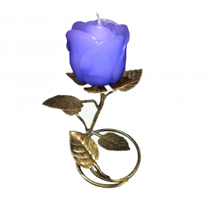 Gold  Leaf  Stand - Violet Rose Candle