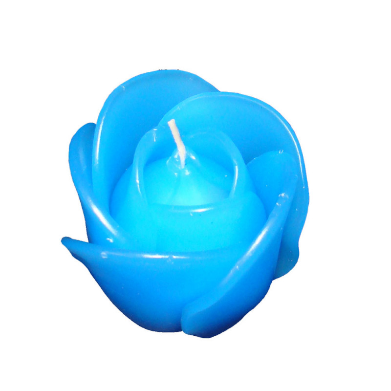 Rose Candle 6cm - Blue