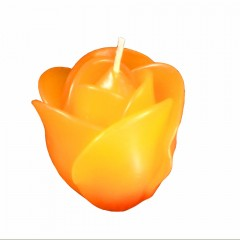 Rose Candle 6cm - Orange