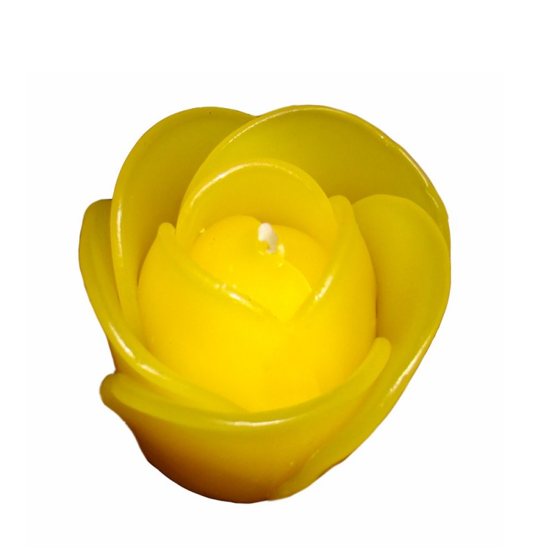 Rose Candle 6cm - Yellow