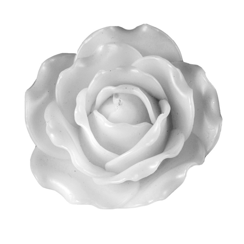 Rose Candle - White